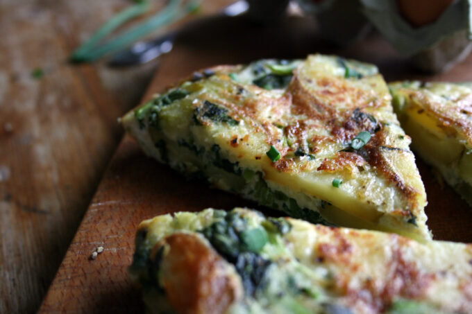 watercress spanish tortilla