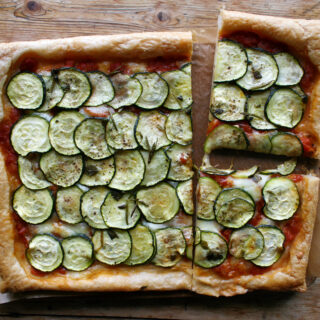puff pastry courgette pizza