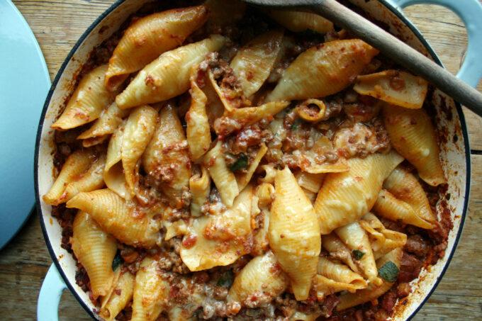 vegetarian bolognese pasta bake
