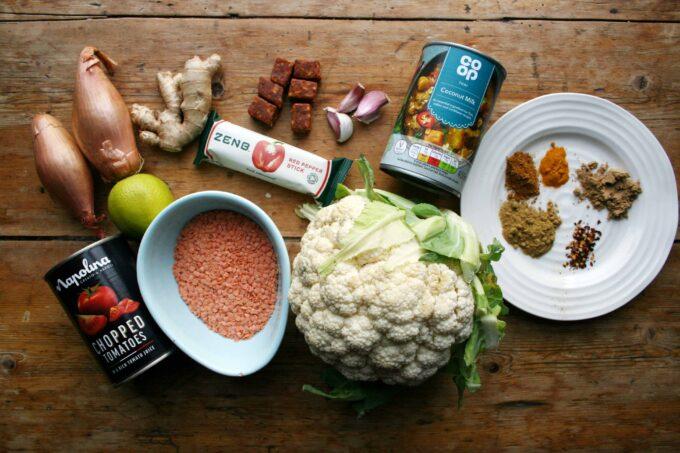 cauliflower curry with ZENB