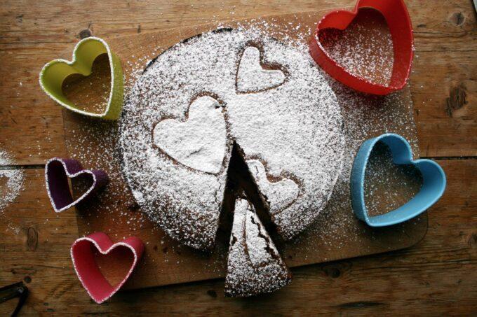 chocolate orange valentines cake