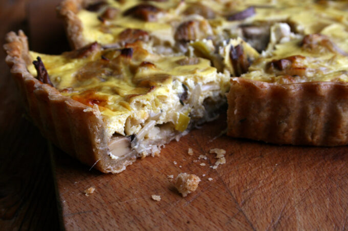 sausage and mushroom quiche