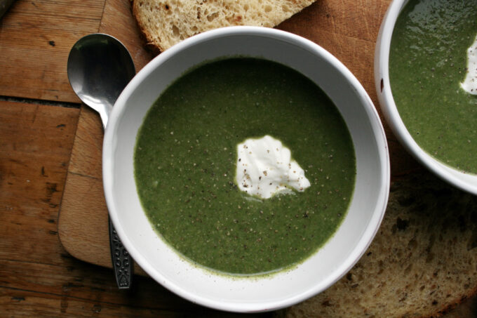 spinach and mushroom soup