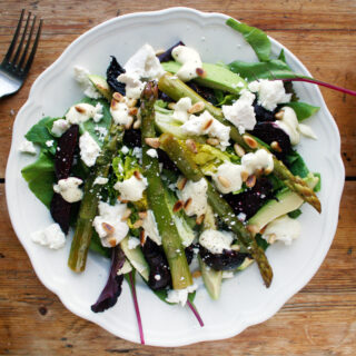roast beetroot and asparagus salad