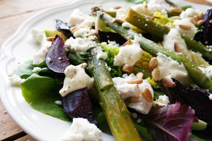 roast beetroot and asparagus salad