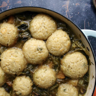 vegetable stew and dumplings