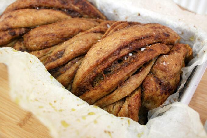 wild garlic pesto babka