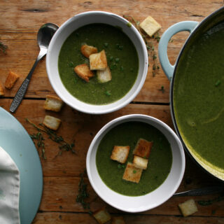 wild garlic and watercress soup