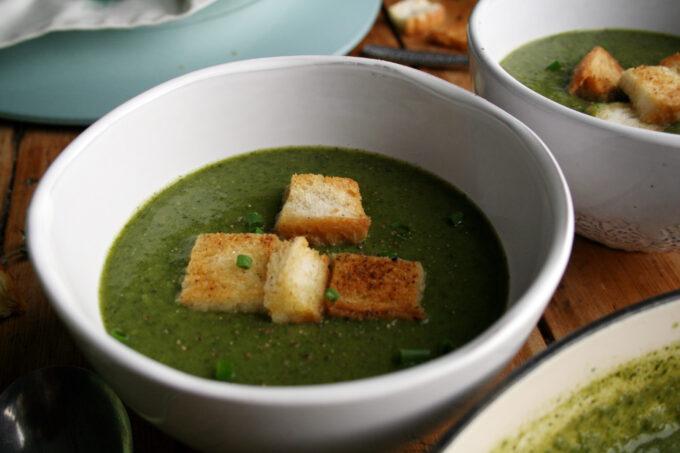 wild garlic and watercress soup