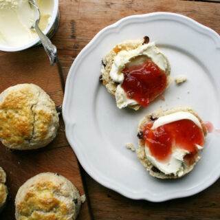 scone and jam