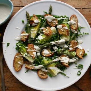 asparagus casear salad