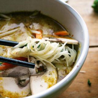 spicy coconut noodle soup