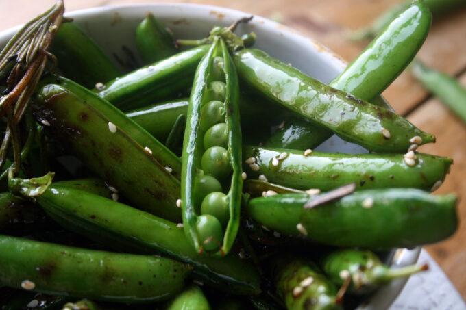 rosemary charred peas