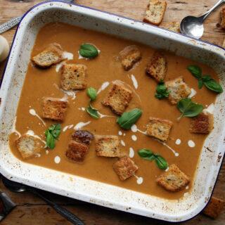 roast summer vegetable soup