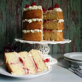 raspberry and white chocolate cake