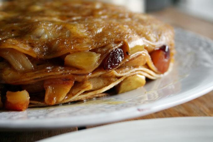 Apple Strudel Pancake Cake