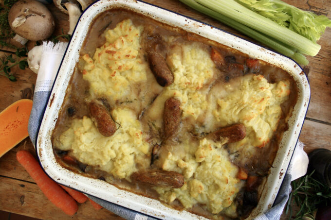 sausage and mash casserole