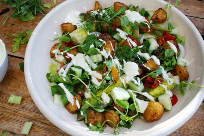 Lemon Potato Wedge Salad