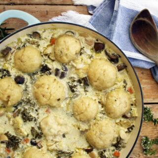 stew and dumplings