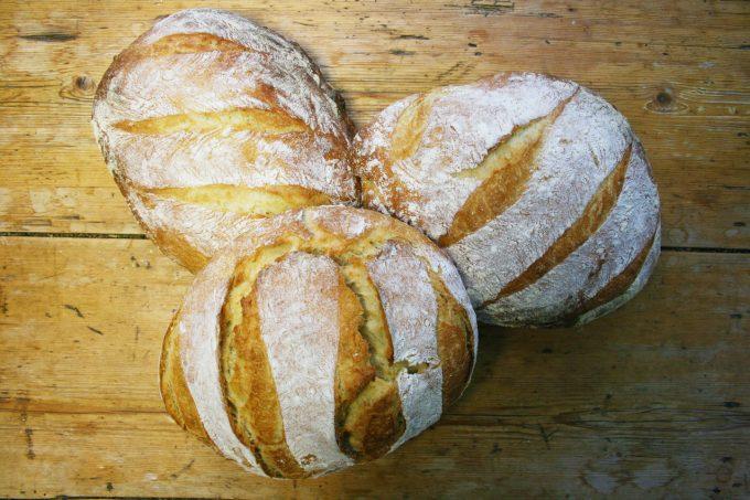 three white loaves
