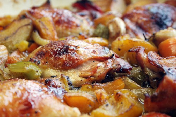 sticky paprika, chicken thigh and pumpkin casserole - Dom in the Kitchen