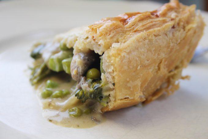 broccoli and mushroom pie