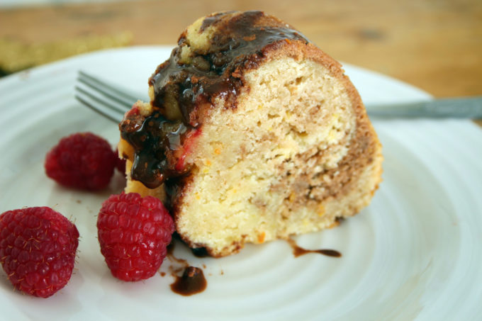 chocolate clementine marble cake