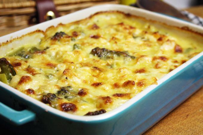 fish and broccoli gratin